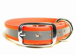Biothane ® reflecterende halsband Oranje