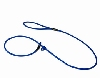 Biothane sliplijn 8mm x 150cm - Blauw