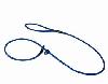Biothane sliplijn 6mm x 130cm - Blauw