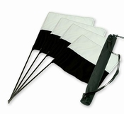 Dirigeervlaggen Zwart/Wit