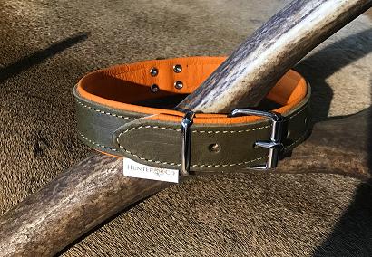 Soft Leren Onderlegde Halsband Hunting Green