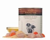 Hubertus Gold Menu Konijn, Kip & Gierst Blik 800 Gr